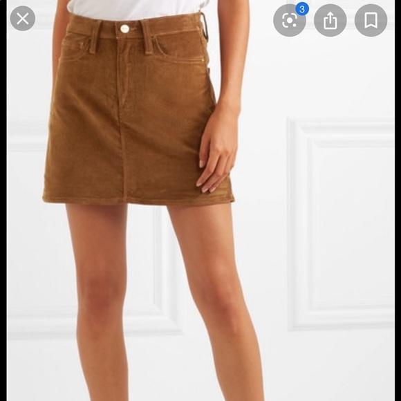 Frame Denim Dresses & Skirts - Frame corduroy skirt